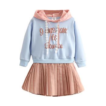 贝壳元素春秋装女童童装长袖连衣裙qz4988