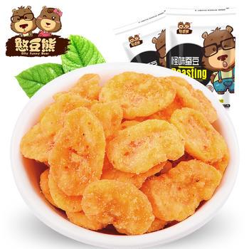 憨豆熊 蟹黄豆瓣120g*2袋炒货零食