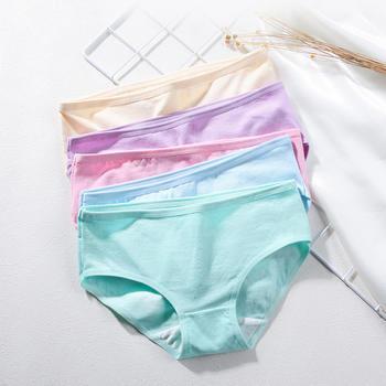 兰玛珊蒂三角底裤棉裆纯色内裤4条装