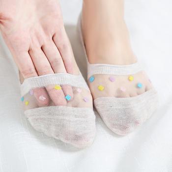 韩尚莯足镂空女袜玻璃硅胶丝袜女