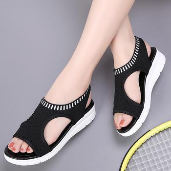 奥古女鞋夏季飞织网韩版凉鞋短靴沙滩鞋拖鞋时尚外穿