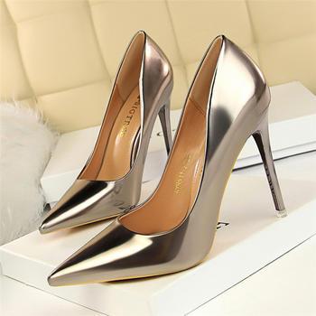 奥古女鞋夏季PU短靴尖头高跟单鞋时尚浅口尖头性感
