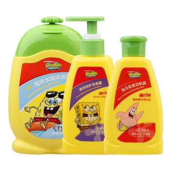 海绵宝宝 儿童洗发水+沐浴露+润肤露