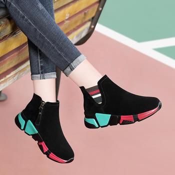 冬季加绒袜子鞋女士韩版运动鞋