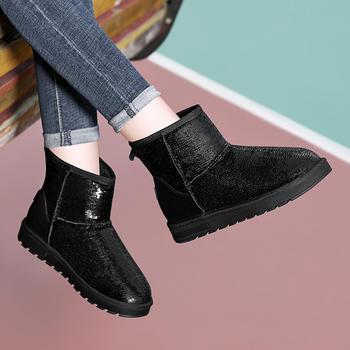 雪地靴女新款冬季加绒短筒棉鞋