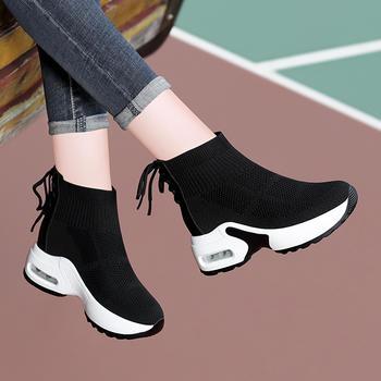 女内增高秋季新款厚底气垫运动鞋