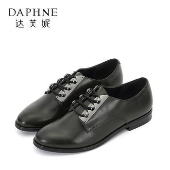 Daphne/达芙妮圆头低跟女鞋1017404030