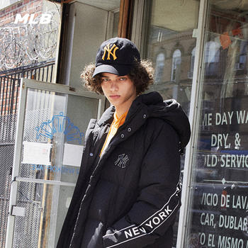 MLB男女通用刺绣大标NY棒球帽
