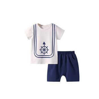 舒贝怡 儿童洋气套装短袖两件套夏季