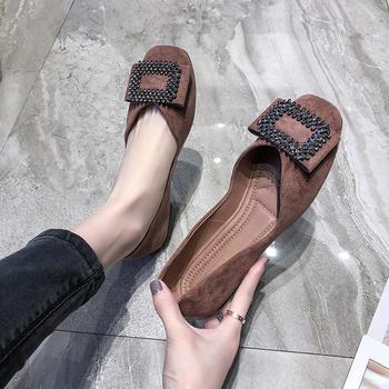 慕沫2019新款春季单鞋懒人豆豆鞋