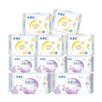ABC卫生巾套装纤薄日用+超长夜用