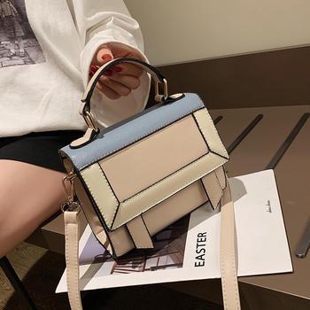 宾尼兔新款撞色手提包时尚包包女