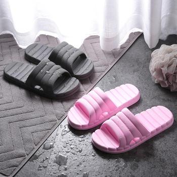 乐拖 拖鞋情侣凉拖男女士四季室内居家浴室宽条纹款