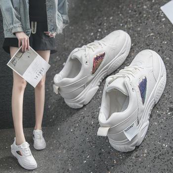 佑黛女鞋韩版新款休闲鞋ins超火老爹鞋厚底运动松糕鞋