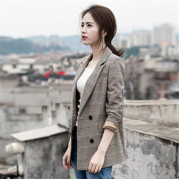 XYMZ 格子西装春装韩版休闲显瘦外套气质女士长袖西服