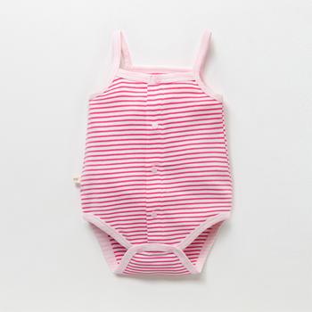 猪猪的故事婴儿连体衣夏季纯棉薄款无袖吊带哈衣