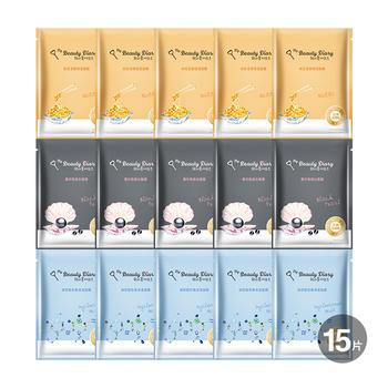 中国•我的美丽日志 水润Q弹肌15片组(玻尿酸5入+纳豆5入+黑珍珠5)