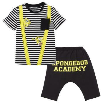 海绵宝宝童装儿童套装 夏季款 T恤短裤两件套