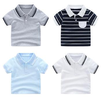 怡妍宝贝儿童纯色全棉POLO衫男童短袖T恤