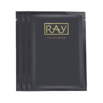 芮一RAY金版黑膜竹炭纤维无色素彩ray黑色补水清洁面膜