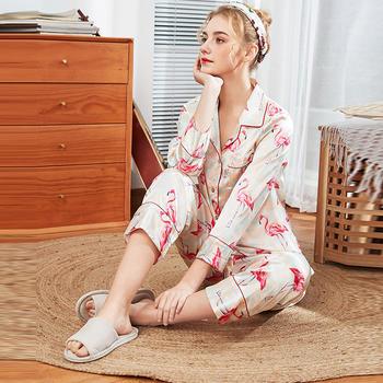 酷诺真丝睡衣女士新品家居服两件套装