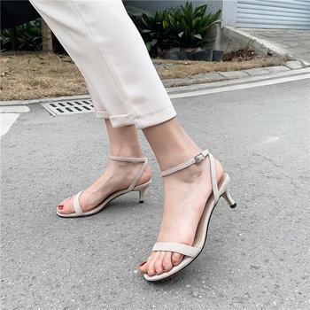 慕沫夏季新款凉鞋细带仙女鞋露趾高跟罗马鞋女鞋