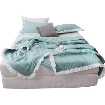 维科家纺(VEKEN)可水洗薄被子水洗棉空调被夏凉被三件