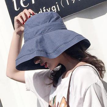 鸿畅 夏渔夫帽大沿大檐防晒防紫外线日系遮阳太阳帽