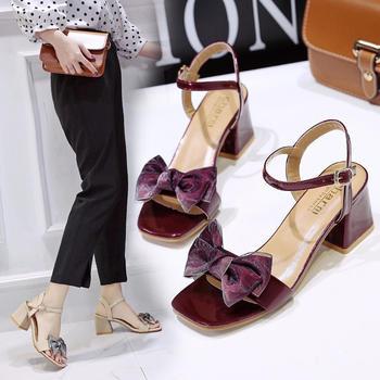 佑黛凉鞋女夏季新款露趾?#25351;?#21333;鞋学生一字扣带罗马鞋