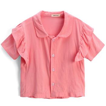 猪猪的故事2019新款夏季短袖衬衫儿童上衣女童洋气