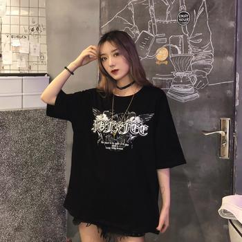 露雪棉网红短袖女2019新款t恤打底衫宽松韩版