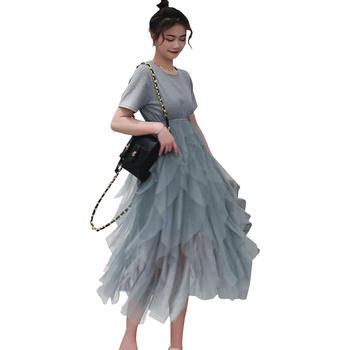 欧丽妈咪孕妇连衣裙网纱蛋糕裙孕妇装夏天裙子孕妇裙