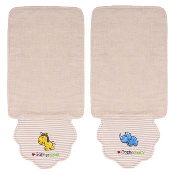 谷斐尔2条装 纯棉纱布宝宝夏季汗巾纱布吸汗巾垫背巾