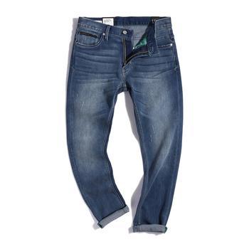 Lee 男士中低腰小直脚 精玉透凉牛仔裤 L117092HV8FS