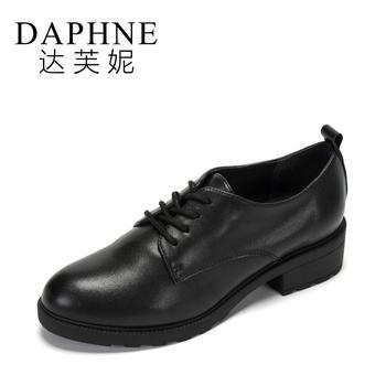 Daphne/达芙妮系带深口休闲鞋圆头平底女1017404041
