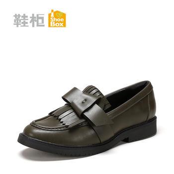 达芙妮旗?#21525;指?#38795;流苏鞋女休闲低跟单鞋女1117404202