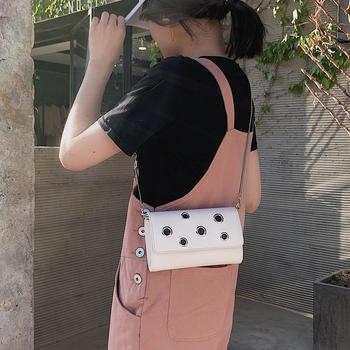 天彩翼飞韩版时尚新款个性女包单肩斜挎链条包