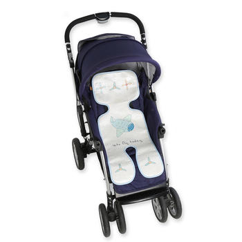 意嬰堡嬰幼兒冰絲推車涼席   透氣親膚  涼而不冰