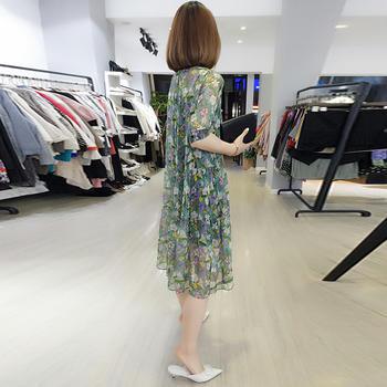 BOBOWALTZ新款欧货潮甜美很仙碎花雪纺气质韩版连衣裙