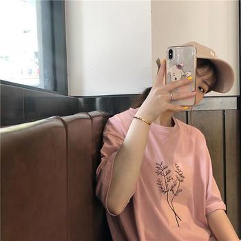 美丽后2019新款宽松韩版BF风T恤上衣百搭减龄