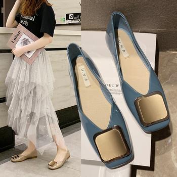 艾微妮新款金属装饰平底百搭女鞋单鞋