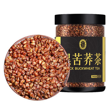 宁安堡 黑苦荞茶苦荞茶花草茶450g 麦香型罐装