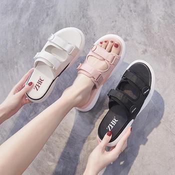 ZHR仙女时尚增高厚底凉拖女外穿ins潮网红沙滩运动拖鞋