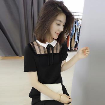 BOBOWALTZ2019新款潮小众设计感黑色性感收腰韩版连衣裙