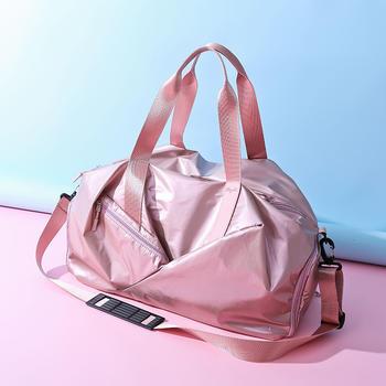 萨兰丹迪时尚珠光防水健身包大容量百搭旅行袋