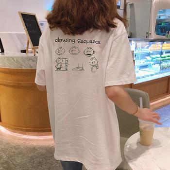 纯棉纯棉短袖T恤女2019夏季超火网红ins潮宽松恤