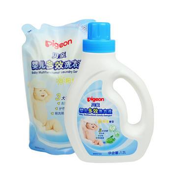 贝亲婴儿多效洗衣液(阳光香型)1.2L+1L