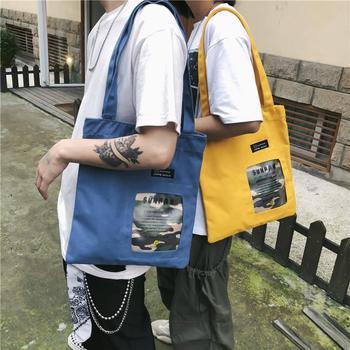 萨兰丹迪ins超酷帆布手提袋港风中性情侣单肩包