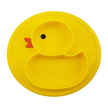 黄色小鸭婴幼儿儿童宝宝餐盘一体式餐具