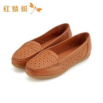红蜻蜓专柜正品女鞋新款时尚百搭英伦平跟单鞋女B80296